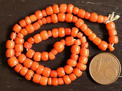 30cm Pearl Coral Antique Collier Napoleon Antique Victorian Coral Bead Necklace
