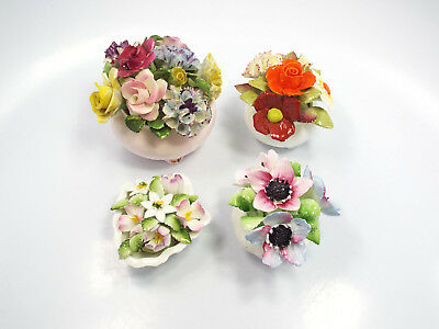 Royal Adderley Royal Doulton Royal Albert Lot of 4 Flower Pot Figurines