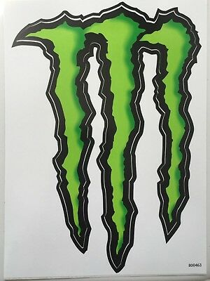"(2) Large Monster Energy Sticker / Decal 8.5"" by 6"" LOOKS BADASS ON YOUR CAR!!"