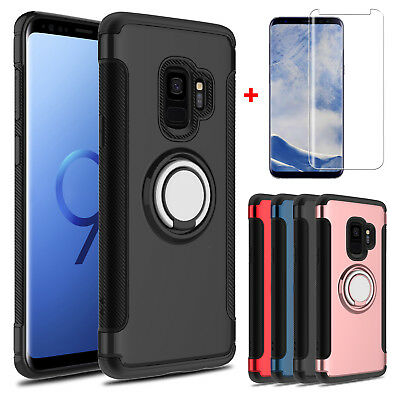 For Samsung Galaxy S9/ S8 Plus/ Note 9/8 Holder Stand Case With Screen Protector