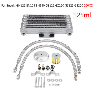 125ml Motorcycle Oil Cooler Engine Oil Cooling Radiator Systems for Suzuki 200CC