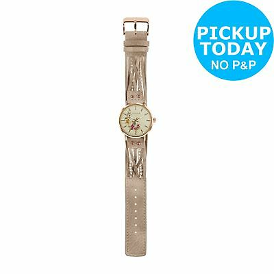 Kahuna Ladies' Rose Gold Coloured Grey Beaded Strap Watch