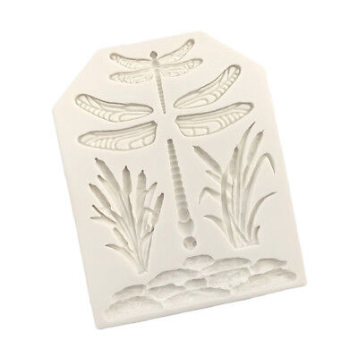 Dragonfly Lotus Silicone Mould Clay Cake Decorating Fondant Sugar Craft Tool