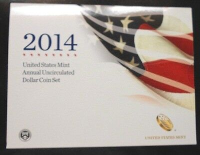 2014 Us Mint Annual Uncirculated Dollar Coin Set ~ Free Shipping