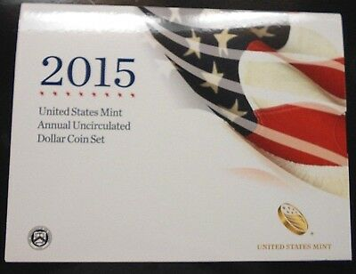 2015 Us Mint Annual Uncirculated Dollar Coin Set ~ Free Shipping
