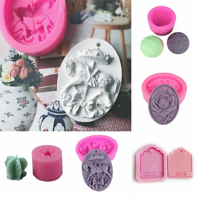 5 Style 3D Silicone Fondant Soap Mold Cake Decor Chocolate Sugarcraft Mould Tool