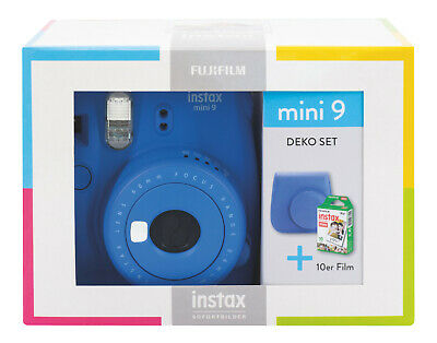 FUJIFILM Instax Mini 9 Travel Set Sofortbildkamera, Cobalt Blue