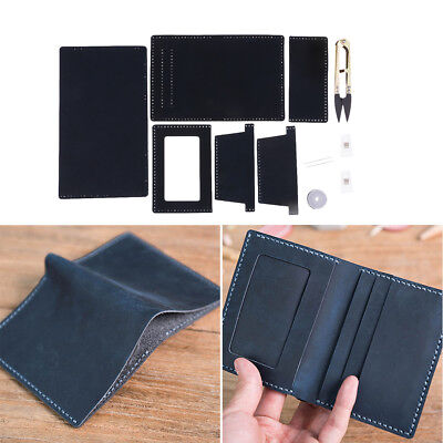DIY Women Mens Leather Wallet Kit Personalised Real Leather Wallet Making