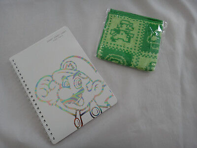 Club Nintendo Mario Notepad & Mini Towel Set Japan
