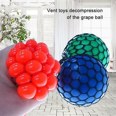 AU Mesh Squishy Ball Squeeze Grape Net Anti Stress Relief Reliever for Kids Toys