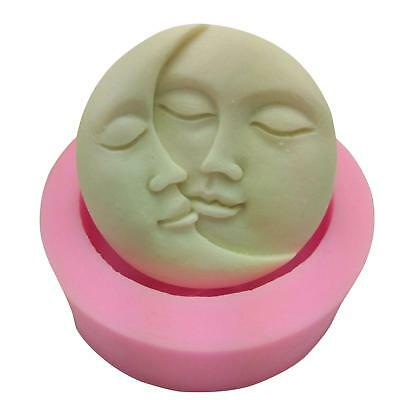 Moon Sun Soap Mold Flexible Silicone Mold For Candy Chocolate Cake Mould pink