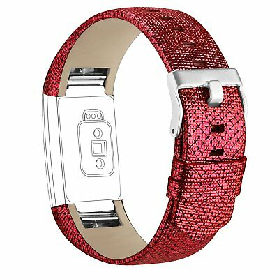 For Fitbit Charge 2 Wrist Strap Watch Band Genuine Leather Replacement Wristband