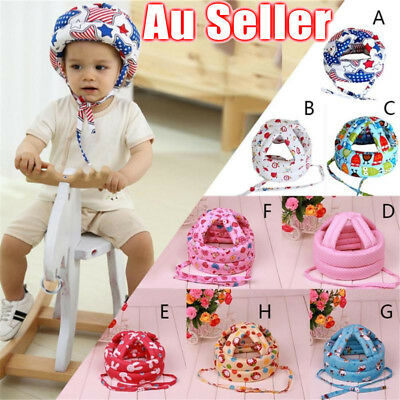AU Infant Baby Toddler Safety Helmet Kids Head Protection Walking Crawling Hat