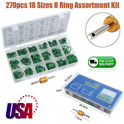 18 Sizes 270pcs New O Rings Kit A/C System Air Conditioning HNBR AC Repair Tool