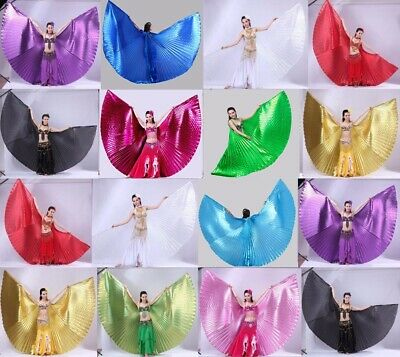 NEW Open or Close Professional Fairy wings Egypt Belly Dance Costumes Isis Wings