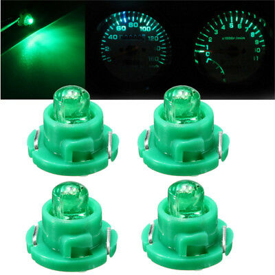 4x T5/T4.7 Wedge LED Bulb Dash Climate Control Cluster Instrument Light Green
