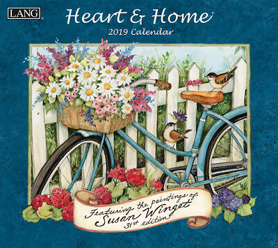 NEW Heart and Home Susan Winget 2019 Lang Wall Calendar Packed Well Free Postage