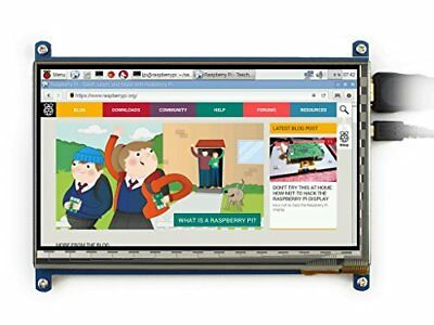 Waveshare 7 inch 1024*600 Capacitive Touch Screen LCD Display HDMI Interface ...