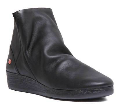 Fly London Yond771 Womens Black Suede Leather Shoes