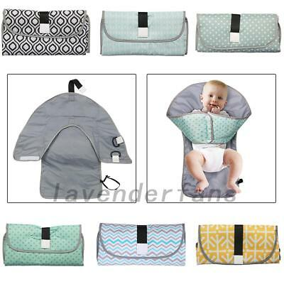 Waterproof Baby Diaper Changing Mat Travel Home Change Pad 3-in-1 Organizer Bag