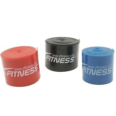 xFitness Compression Floss Band 7' Strap For CrossFit - Full Set of 3 Bands