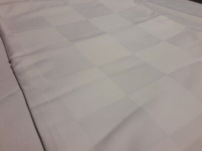Clearance White Hotel 250 Thread 80/20 Cotton Rich Large Check Sateen Flat Sheet