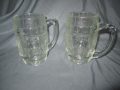 DAD'S ROOT BEER   vintage Glass Mugs Set of Two