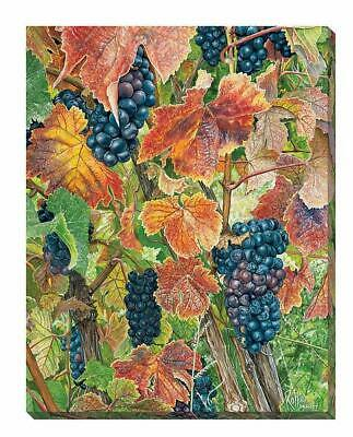 Autumn Vinyard - Grapes Wrapped Canvas by Rollie Brandt