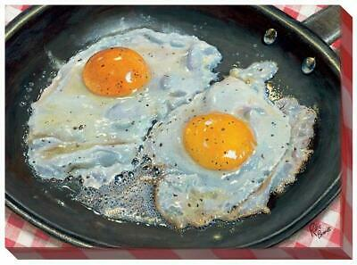 Sunny Side Up - Eggs Wrapped Canvas by Rollie Brandt