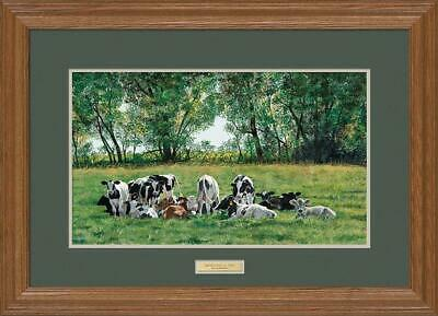 Rendezvous at Two - Cows Framed Limited Edition Print by Rollie Brandt