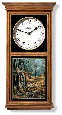 Old Loggers Trail Regulator Clock by Terry Redlin