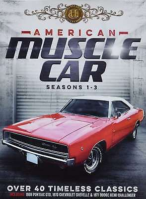 New: AMERICAN MUSCLE CARS - Over 40 Collector Classic Cars [6 DVDs+15hrs+Book]