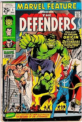 Marvel Feature #1 1971 1st Appearance of the Defenders! Hulk! Dr. Strange! VG-