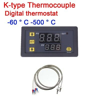 DC12V -60~500℃ Digital High Temperature Control Switch Thermostat K Thermocouple