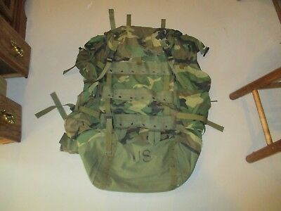 US Army Marines Military Woodland Camo Large Field Pack NSN-8465-01-286-5356