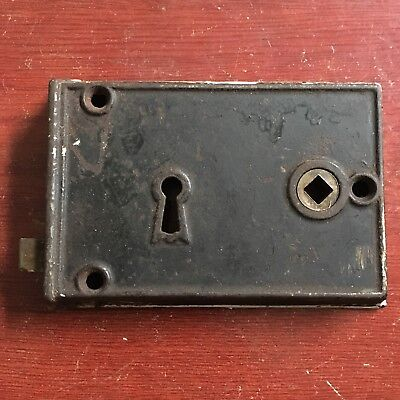 Antique Large Cast Iron Rim  Lockset