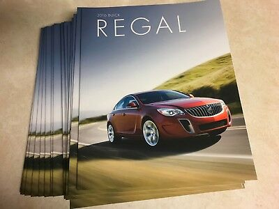17 total 2016 Buick Regal 36-page Original Sales Brochure