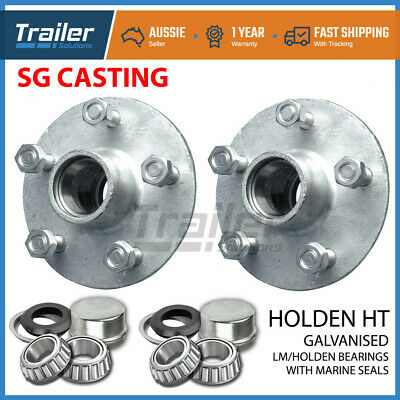 Holden Ht Galvanised Boat Trailer Hubs With Holden Bearings (Lm) & Marine Seals
