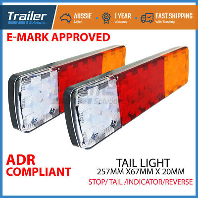2x TRAILER LIGHTS 27 LED STOP TAIL INDICATOR REFLECTOR TRUCK CAMPER LIGHT 10-30V