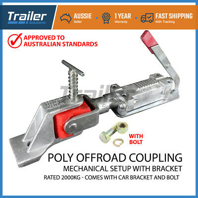 Mechanical Poly Off-Road Coupling Hitch  Zinc 50Mm 2000Kg Trailer Part