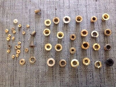 Antique Barrel Grommets Plus Some Hand Nuts Clockmakers Selection