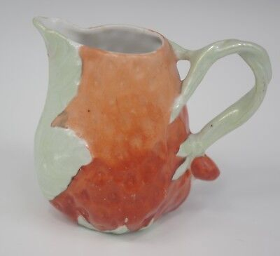 Antique Royal Bayreuth Porcelain Figural Strawberry Syrup Pitcher