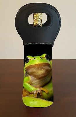 Frog Wine Bottle Cooler Carry Bag