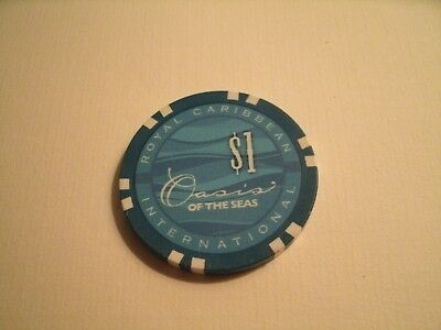 4 Different Royal Caribbean International $1.00 Casino Chips