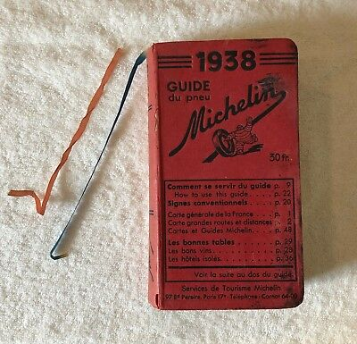 Michelin Guide France 1938