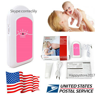 Pregnancy Baby fetus Heart Rate Monitor Fetal Doppler Recorder Sound,Free Gel