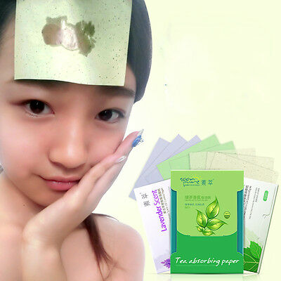 80pc Clean Face Oil Absorbing Paper Sheets Oil Control Film Blotting Paper$