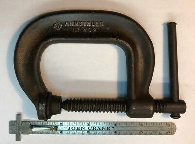 Vintage Armstrong # 402 C Clamp Chicago USA - Embossed Arm and Hammer Logo