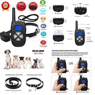 Remote Dog Training Collar 1450Ft Waterproof And Rechargeable Electric Shock New