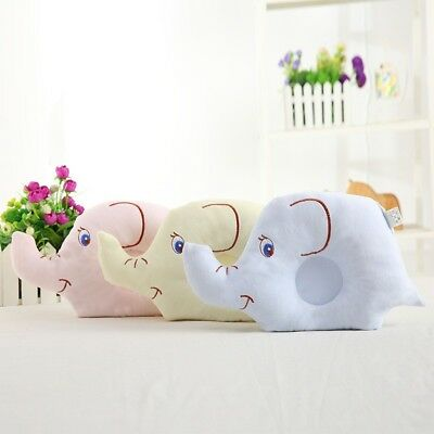 Baby Cute Pillow Soft Cotton Prevent Flat Head Anti Roll Neck Support For Infant